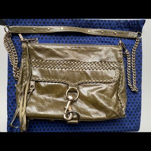 Rebecca Minkoff MAC Green Leather Crossbody Bag